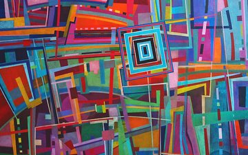 abstraction, color, form, paint, painting, geometry