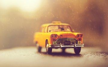 капли, игрушка, дождь, машинка, моделька