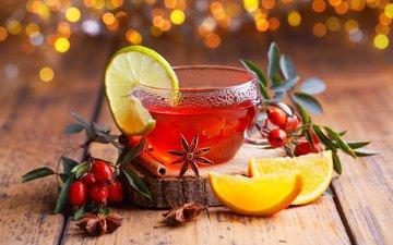 новый год, напиток, корица, фрукты, апельсины, шиповник, ягоды, рождество, бадьян, глинтвейн, sabine dietrich