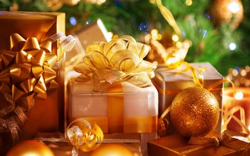 новый год, подарки, рождество, декор
