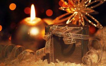 новый год, свеча, подарок, рождество, декор, анна омельченко