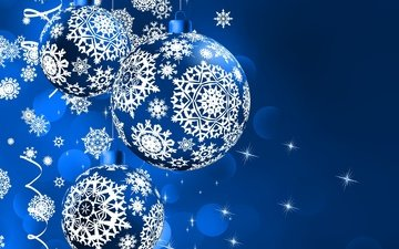 das neue jahr, schneeflocken, bälle, urlaub, weihnachten