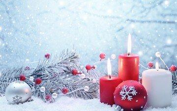kerzen, das neue jahr, weihnachten, christbaumschmuck