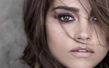 girl, portrait, look, hair, face, actress, celebrity, jenna coleman