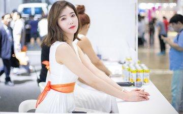 girl, brunette, look, model, hair, face, actress, kim bo-ra, korean