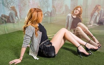 girl, reflection, look, model, hair, face, actress, singer, advertising, brand, shorts, bella thorne