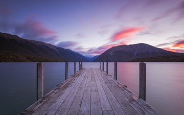 lake, mountains, nature, the bridge, landscape, jon teo