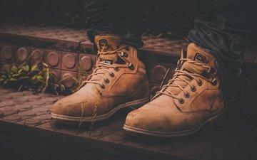 steps, jeans, feet, shoes, laces