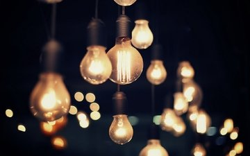 light, the evening, glare, light bulb, electricity