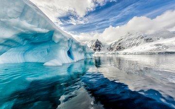 landscape, iceberg, the ocean, ice, antarctica, arctic