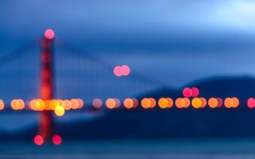 bridge, usa, san francisco, golden gate, bokeh