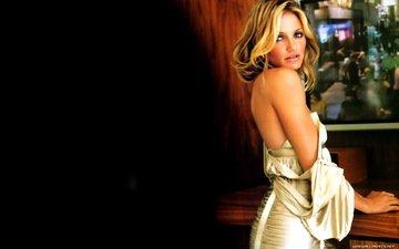 девушка, блондинка, взгляд, модель, волосы, лицо, актриса, голые плечи, kэмерон диаз