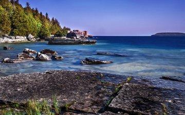 nature, shore, coast, canada, ontario, tobermory
