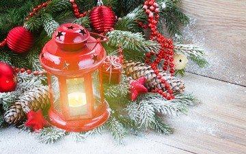 новый год, елка, украшения, фонарь, рождество