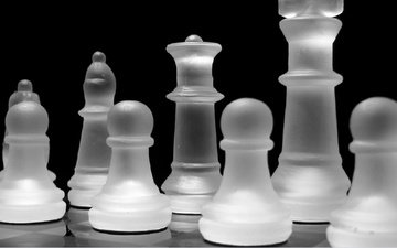 chess, black and white, figure, board game