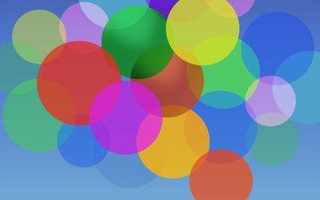 абстракция, фон, цвет, форма, круги