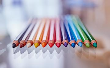 colorful, pencils, colored pencils