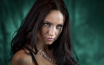 девушка, взгляд, модель, волосы, губы, лицо, прага, губки, чехия, cyril max, ivanna