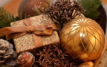 новый год, елка, подарок, рождество, елочные игрушки