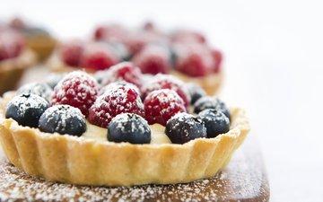 raspberry, berries, blueberries, sweet, basket, dessert, cake, jill chen