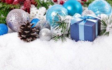 новый год, подарок, рождество, елочные украшения