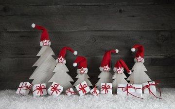 снег, новый год, подарки, елочки, рождество, декор