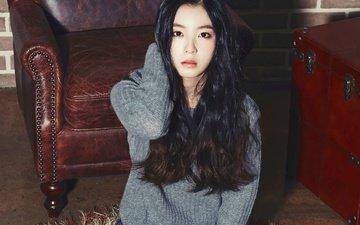 девушка, музыка, взгляд, волосы, лицо, певица, азиатка, k-pop, красный бархат