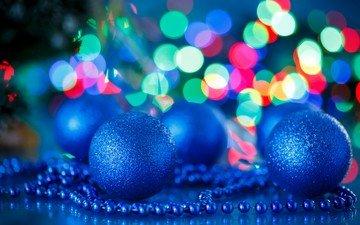 новый год, шары, бусы, рождество, елочные игрушки
