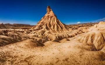 the sky, nature, landscape, rock, desert