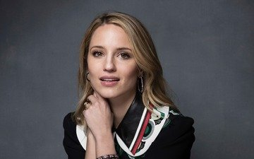 girl, blonde, portrait, look, hair, face, actress, earrings, american, dianna agron