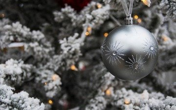 new year, tree, branches, ball, light bulb, holiday, christmas, garland, christmas toy