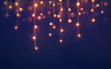new year, lights, garland