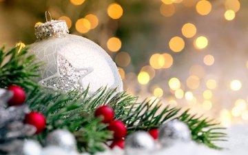 новый год, елка, шары, рождество, декор, smileus