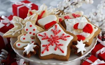 рождество, печенье, выпечка