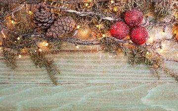 новый год, елка, шары, рождество, шишки, елочные украшения