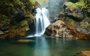 река, скалы, природа, водопад, nikolay sapronov
