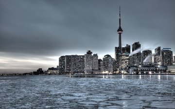 winter, the city, canada, toronto
