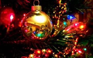 new year, tree, balls, christmas, christmas decorations, garland