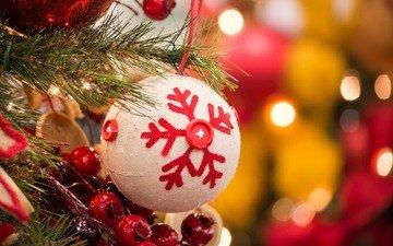 new year, tree, ball, christmas