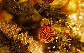 new year, tree, ball, christmas, christmas decorations, elena krauze