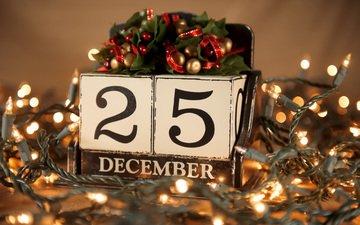 рождество, гирлянда, 25 декабря, католическое рождество