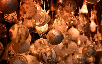 new year, balls, christmas, christmas decorations