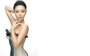 девушка, платье, взгляд, модель, волосы, лицо, азиатка, feng yu zhi