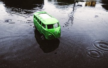 water, toy, van, volkswagen, model