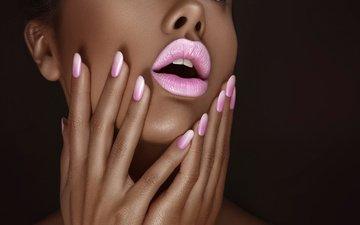 стиль, девушка, модель, губы, макияж, маникюр, ретушь, ksusha novikova, terence bordon
