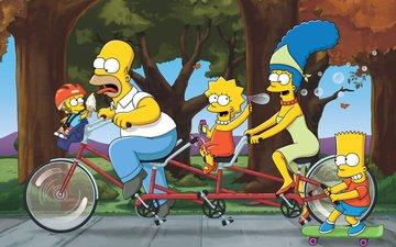 family, the simpsons, homer, bart, lisa, marge