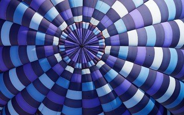 macro, the view from the top, fabric, balloon