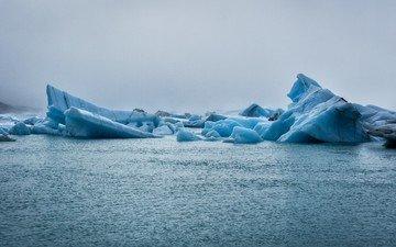 природа, море, лёд, айсберг
