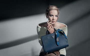 girl, look, hair, face, actress, jennifer lawrence, patrick demarchelier, dior
