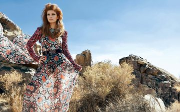 природа, девушка, платье, взгляд, модель, лицо, актриса, кейт мара